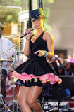 Rihanna performs on NBC's Today Show in Rockefeller Center in New York City